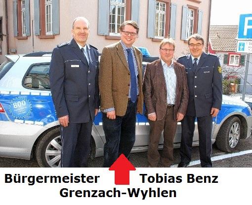 Bürgermeister Tobias Benz Grenzach Wyhlen