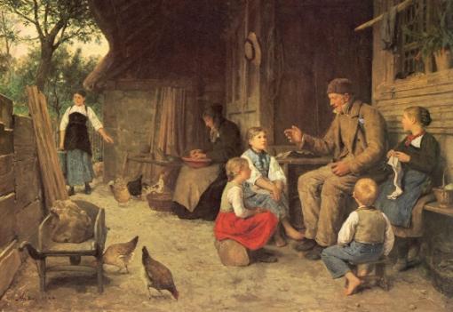 Grossvater erzählt eine Geschichte