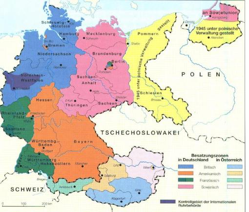 Aufteilung Deutschlands